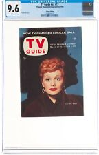 TV Guide V2#17 CGC 9.6 April 23, 1954 OW-W Pages Lucille Ball Chicago No Label!