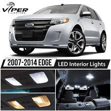 2007-2014 Ford Edge White Interior LED Lights Package Kit + License Lights