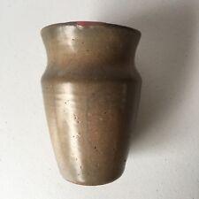 Handcrafted Art Pottery Vase Pot Vintage Signed 6