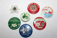 Lot of 7~Vintage 1969~Minnesota Carnival Festival~Buttons~Pins~St. Paul~Vulcan