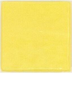 Yellow Vitreous Glass Mosaic Tiles - 25 Tiles - 3/4 inch