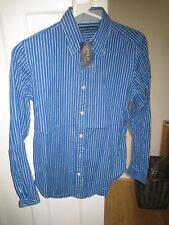 Ralph Lauren 'Polo' Shirt Blue White Stripe 'Small' RRP £85.00 FREEPOST