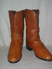 Womens Justin Full Quill Ostrich Roper Cowboy Boots 4 1/2B J90101