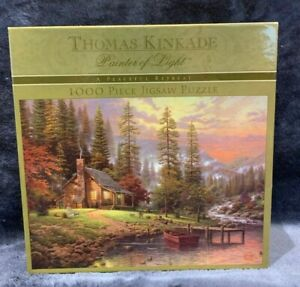 A Peaceful Retreat Thomas Kinkade 1000 Piece Puzzle Brand NEW Sealed