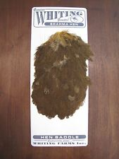 Fly Tying Whiting Brahma Hen Saddle March Brown #A