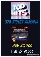 378 Styles Für YAMAHA PSR SX 700 - SX 900 Neu ! New ! Nouveau !