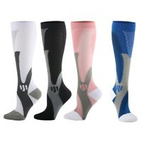 KE_ HK- Outdoor Sports Breathable Nurses Compression Calf High Socks Stocking