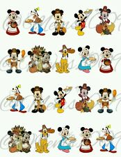 Mickey and Minnie Mouse Thanksgiving Nail Decals (water decals)
