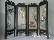 Doll Furniture Large Size Chinese Handmade Silk Embroidery Screen 2 ~ 1:4 Scale