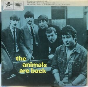 "THE ANIMALS The Animals Are Back OZ EP 45 7"" Collectible Eric Burdon"