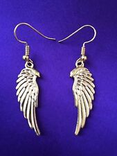 Yellow Gold Coloured Angel Wing Drop/Dangle Earring