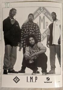 "Bay Area Rap 8X10"" Glossy B&W Promo Photo- I.M.P. - Ill Mannered Posse COUGNUT"