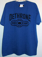 Deathrone Base Camp Shadow T Shirt Men's XXL Royal Heather 2XL Cotton Poly NWT