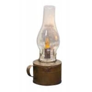 Primitive Barn Lantern In Rust, Includes Timer Candle,