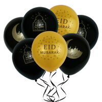 10PCS 10inche Eid Mubarak Latex Balloons Islamic New Year Party Decoration HL