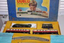 HORNBY 00 GAUGE DUBLO 3 RAIL SILVER KING PASSENGER TRAIN SET WITH ORIGINAL BOX