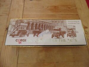 Corgi Transport of the 30's Thornycroft Bus and Ford Model T Van Boxed