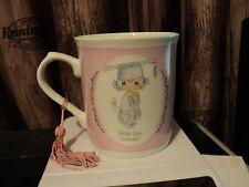 Enesco Precious Moments pink graduation coffee cup mug Collectible