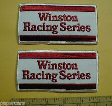 NHRA NASCAR Winston Racing Series Jacket Hat Patch drag NEW 1980s vintage lot x2