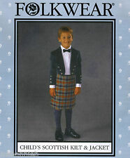 Folkwear Boys Scottish Kilt & Prince Charlie Jacket Sewing Pattern 154 size 4-14