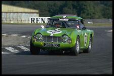 582071 Triumph TR5 On Racetrack A4 Photo Print