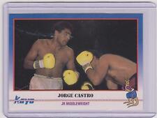 (100) 1991 KAYO JORGE CASTRO BOXING CARDS #43 ~ PUERTO DESEADO ARGENTINA ~ LOT!