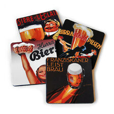 Vintage Brew Beer Flexible Drink Coasters Set / 4 Made in the USA Free Shipping