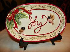 Fitz & Floyd Santa's Forest Friends Sentient Tray, Nib, Serving Dish