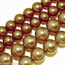 GLASS PEARLS BEADS GOLD COLOR 4MM BEAD STRANDS