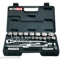 "METRINCH MET-0427 Knarrenkasten zöllig + metrisch 10-32mm  1/2"" Set 26-teilig"