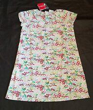 Hanna Andersson Dress Multi Floral Summer Sun NWT 150 Girls 12 14 White Garden