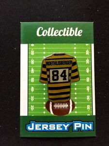 Pittsburgh Steelers lapel pin-Touchdown COMBO Roethlisberger 2 Brown