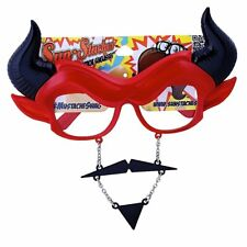 Sun-Staches Devil Stache Novelty Sunglasses for Fun or as a Custome