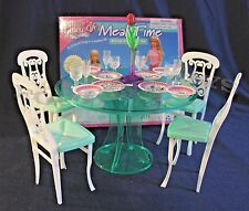 FANCY LIFE DOLLHOUSE FURNITURE MEAL TIME 4-Chairs DINING ROOM PLAYSET+Accessorie