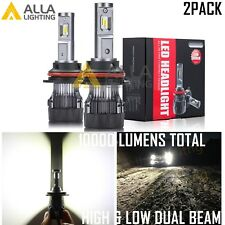 Alla Lighting 10000lm 9007 LED High Low Beam Headlight Light Bulbs Lamps,White