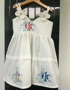 NEW Girls Toddler Childrens Kids 100% Cotton Summer Sun Party Dress 1yrs to 5yrs
