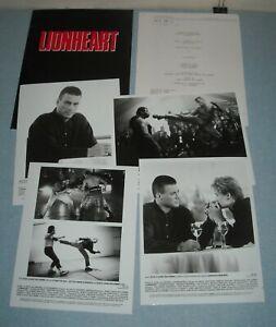 1990 LIONHEART MOVIE PRESS KIT 4 PHOTOS JEAN-CLAUDE VAN DAMME THRILLER