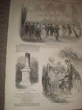 The President's Ball Paris and Paris Fashions France 1849 prints ref AZ