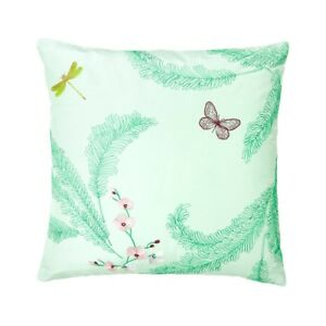 """NWT NEW Yves Delorme Evasion Menthe Glace decorative cushion cover 18"""" x 18"""""""