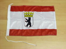 Fahnen Flagge Berlin Bootsfahne Tischwimpel - 30 x 45 cm
