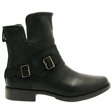 UGG® AUSTRALIA CYBELE BLACK LEATHER BIKER BOOTS UK 6.5 EUR 39 USA 8 RRP £195