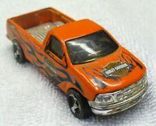 1996 HOT WHEELS-1/64 Orange-Diecast-'97 Ford F-150 Pick-up Truck-Harley Davidson