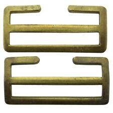 Original WW1 British Army 1908 Brass Webbing Uniform Belt Buckles Pair - EY21