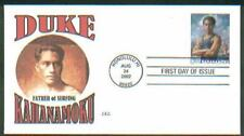 2002 DUKE KAHANAMOKU Surfing Oly Beach Boys ~ CEC CACHET FIRST DAY COVER