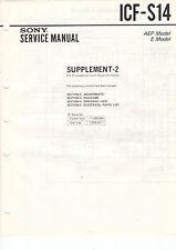 SONY - ICF S14 210W 380 380L 3860W - 5x Service Manual - B2376