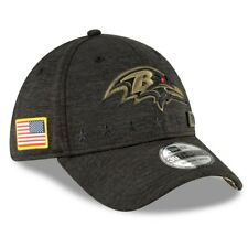Men's Baltimore Ravens New Era Preto 2020 saudação ao serviço 39 thirty Flex Hat