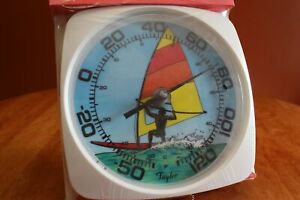 Taylor 5312 Patio Thermometer with Sailboard Design Large Numbers NEW in Package