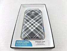 Uncommon Protective Case for Nokia Lumia 630/635 C1050-A Blk/Wht Contrast Plaid