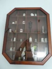 THIMBLE COLLECTION WITH WALL DISPLAY CASE CABINET