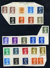 Lot of 34 stamps, Uk, 1988-1990 Scott 1260-1279